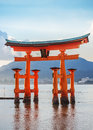 Great floating gate o torii on miyajima island near itsukushima shinto shrine japan november in japan Stock Images