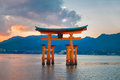 Great floating gate o torii on miyajima island near itsukushima shinto shrine japan november in japan Royalty Free Stock Images