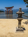 Great floating torii of Itsukushima Shinto Shrine Royalty Free Stock Photo