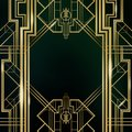 Great Gatsby Movie Inspiration Film Backdrop Background Poster Royalty Free Stock Photo
