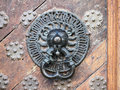 Great guildhall lionhead door knocker the guild hall a gothic building in the centre of tallinn houses the a museum this Stock Images