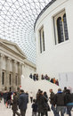 Great hall british museum visitors tourists popular cultural visitor attraction uk modern glass architecture contrasting classical Royalty Free Stock Image