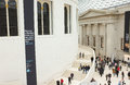 Great hall british museum visitors tourists popular cultural visitor attraction uk modern glass architecture contrasting classical Stock Photo