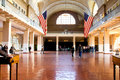 Great Hall inside the processing center on Ellis Island Royalty Free Stock Photo