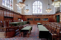 Old Great Hall of Justice - ICJ Court Room Royalty Free Stock Photo
