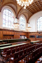 Great Hall of Justice - ICJ Court Room Royalty Free Stock Photos
