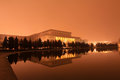 The great hall of the people in the night beijing february on december china Royalty Free Stock Photography