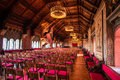 Great hall of the wartburg castle is a built in middle ages in state thuringia germany is most visited tourist Stock Images