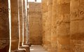 The Great Hypostyle Hall of the Temple of Karnak. Stock Images