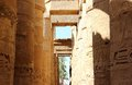 The Great Hypostyle Hall of the Temple of Karnak. Stock Photos