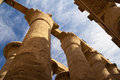 Great Hypostyle Hall at the Temples of Karnak Stock Photos