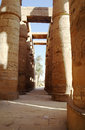 Great Hypostyle Hall at the Temples of Karnak (ancient Thebes). Stock Photography