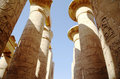 Great Hypostyle Hall at the Temples of Karnak (ancient Thebes). Stock Images