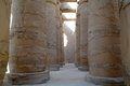 Great hypostyle hall at the temples of karnak ancient thebes luxor egypt Royalty Free Stock Images
