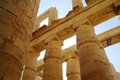 Great hypostyle hall at the temples of karnak ancient thebes luxor egypt Royalty Free Stock Image