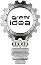 Great Idea - Light Bulb and Gears
