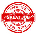 Great job stamp Royalty Free Stock Photo