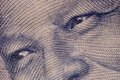 Great leaders eyes a close up of a on a hundred rand note Stock Photography
