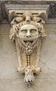 Great mask named mascaron, architectural fantasy, the Chamber of Commerce, Cadiz, Andalusia, Spain Royalty Free Stock Photo