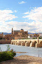 Great mosque and roman bridge cordoba spain guadalquivir river Royalty Free Stock Image
