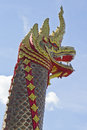 Great naga on blue sky background in thailand Stock Image