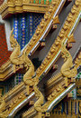Great naka eaves the artistic of chapel in thailand Royalty Free Stock Photos