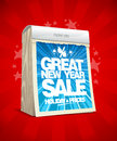Great new year sale poster concept, tear-off calendar Royalty Free Stock Photo