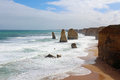 Great ocean road australia the apostles in the Royalty Free Stock Images