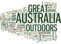 Great Outdoors Australia Word Cloud Concept Royalty Free Stock Photo