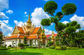 Great Palace Buddhist temple Bangkok, Thailand Royalty Free Stock Photo