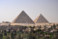 Great pyramid cheops in giza the of the strip outside of cairo egypt the pyramids are a popular travel destination for people and Royalty Free Stock Photos