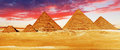 Great pyramid located at giza egypt Stock Photo