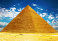 Great pyramid located at giza egypt Stock Image
