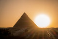 The Great pyramid on sunset Royalty Free Stock Photo