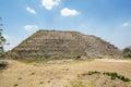 The great pyramid to the maya sun god kinich kak in city of izamal yucatan mexico Royalty Free Stock Photos