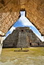 Great pyramid of uxmal yucatan mexico Stock Images