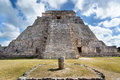 Great pyramid of uxmal yucatan mexico Stock Photos