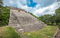The great pyramid in Uxmal, Yucatan, Mexico Royalty Free Stock Image