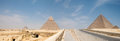 Great pyramids in giza valley cairo egypt Stock Image