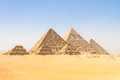 Great pyramids in giza valley cairo egypt the of the oldest of the seven wonders of the ancient world and the only one to remain Royalty Free Stock Photo