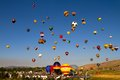 Great reno balloon race nevada usa september the on september in nevada usa the early morning mass ascension of dozens Stock Photo
