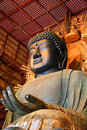 Great rushana budda in todaiji nara japan Royalty Free Stock Photos