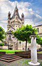 Great Saint Martin Church  in Cologne Royalty Free Stock Photo