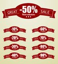 Great sale tags with percent text this is file of eps format Royalty Free Stock Photography