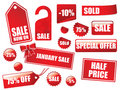 Great sales tags and stickers collection Stock Photos