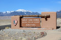Great sand dunes national park the entrance to the in alamosa colorado Royalty Free Stock Image