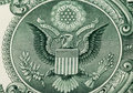 Great seal of the united states on reverse a us dollar bill Stock Photography