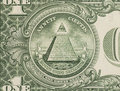 Great seal - US one dollar bill closeup macro Royalty Free Stock Photo