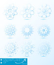 Great set of magic snowflakes winter object for design Stock Image