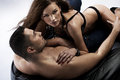Great shot sensual women her muscular boyfriend Stock Image